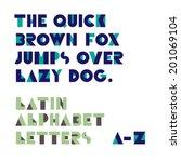 geometric shapes alphabet... | Shutterstock .eps vector #201069104