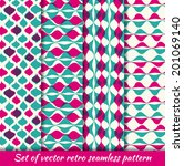 Set of Vintage seamless pattern hipsters. Vector EPS10. Illustration with texture for print, web - stock vector