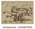 rural scenery landscape...   Shutterstock .eps vector #2010697823