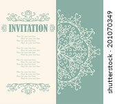 vintage invitation card with... | Shutterstock .eps vector #201070349