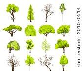 decorative deciduous foliage... | Shutterstock .eps vector #201070514
