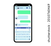 interface smartphone chat...
