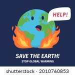 stop global warming and save...   Shutterstock .eps vector #2010760853