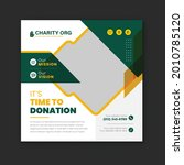 charity and donation social...   Shutterstock .eps vector #2010785120