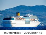 Modern Cruise Ship Anchored In...
