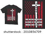one nation under god blessed is ...   Shutterstock .eps vector #2010856709