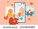 flat illustration of senior man ...   Shutterstock .eps vector #2010856880