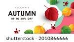 autumn sale banner background...   Shutterstock .eps vector #2010866666