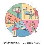 by dividing the circular... | Shutterstock .eps vector #2010877133
