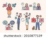 people who do side hustles.... | Shutterstock .eps vector #2010877139