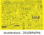 kitchen doodle pattern  cafe... | Shutterstock .eps vector #2010896096