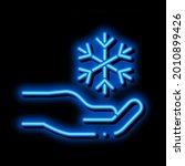 fancy snowflake sign neon light ... | Shutterstock .eps vector #2010899426