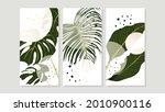 tropical botanical triptych... | Shutterstock .eps vector #2010900116