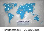 vector world map connection | Shutterstock .eps vector #201090506