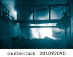 melting waste iron use electric ... | Shutterstock . vector #201092090