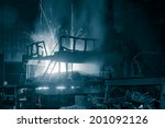 melting waste iron use electric ... | Shutterstock . vector #201092126