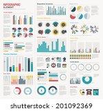 infographic elements big set | Shutterstock .eps vector #201092369