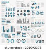 infographic elements big set | Shutterstock .eps vector #201092378