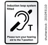 monochrome induction loop... | Shutterstock .eps vector #201093110
