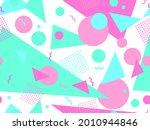 80s geometric seamless pattern... | Shutterstock .eps vector #2010944846