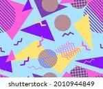 memphis seamless pattern.... | Shutterstock .eps vector #2010944849