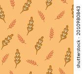 autumn leaves seamless pattern  ... | Shutterstock .eps vector #2010980843