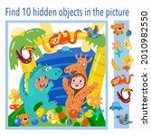 find 10 hidden objects in the... | Shutterstock .eps vector #2010982550
