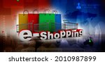 3d illustration shopping cart... | Shutterstock . vector #2010987899