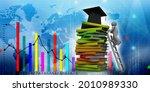 3d rendering education graduate ... | Shutterstock . vector #2010989330