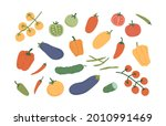 set of fresh ripe vegetables....   Shutterstock .eps vector #2010991469