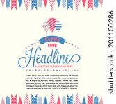 celebration theme layout... | Shutterstock .eps vector #201100286