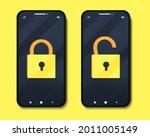 smartphone lock screen. phone...
