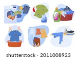 collection of clean and dirty...   Shutterstock .eps vector #2011008923