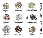 colored vector sketch of food...   Shutterstock .eps vector #2011027640