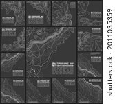 grey contours vector topography.... | Shutterstock .eps vector #2011035359