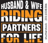 husband and wife riding... | Shutterstock .eps vector #2011038386