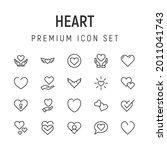 premium pack of heart line...