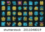 personal guard icons set....   Shutterstock .eps vector #2011048019