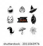 halloween scary collection... | Shutterstock .eps vector #2011063976
