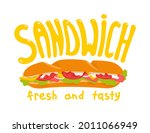 a submarine sandwich  hoagie....   Shutterstock .eps vector #2011066949