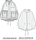 editable winter cape flat... | Shutterstock .eps vector #2011105523