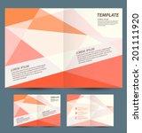 brochure template design  | Shutterstock .eps vector #201111920