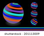 vector background with striped...   Shutterstock .eps vector #201113009