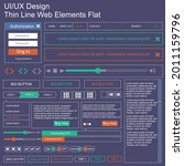 vector ui ux kit for mobile...