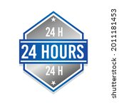 24 hours badge icon seal.... | Shutterstock .eps vector #2011181453