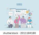 business marketing illustration.... | Shutterstock .eps vector #2011184180