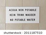 no potable water warning sign... | Shutterstock . vector #2011187510