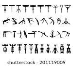 silhouettes of corkscrew ...   Shutterstock .eps vector #201119009