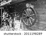 Decoration On A Garden Shed. An ...