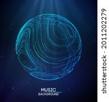 music background line flow.... | Shutterstock .eps vector #2011202279